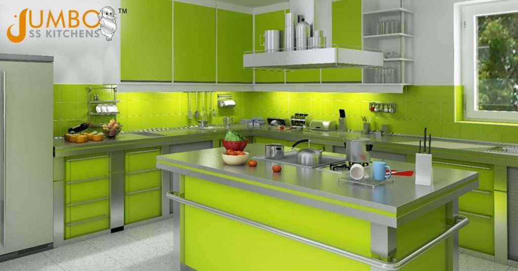 Modular kitchen steel cabinets