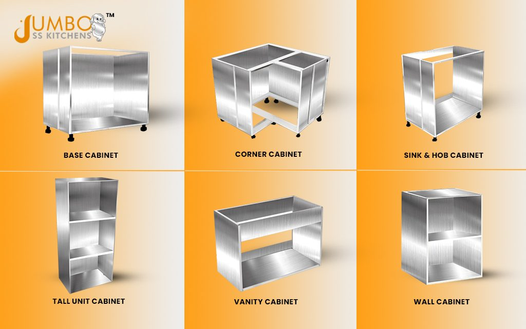 Types of Stainless Steel Cabinets